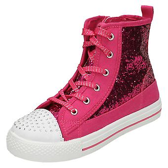 Girls AirTech Sequined Lace Up Boots Riot