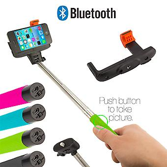 Selfie stick with Bluetooth connection - Green