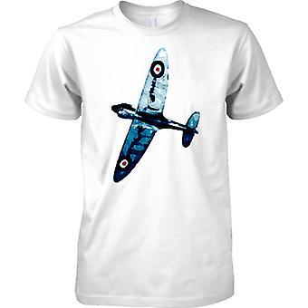 Spitfire kolor niebieski - samolot myśliwski WW2 - dzieci T Shirt