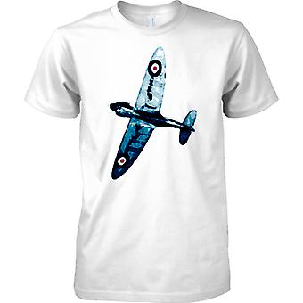 Spitfire blaue Farbe - WW2-Jagdflugzeug - Kinder T Shirt