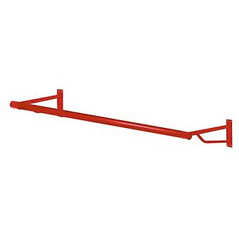 4ft Poppy Red Wall Mounted Garment Rail from Caraselle - Heavy Duty