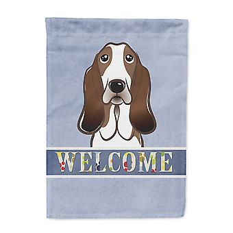 Carolines Treasures  BB1429GF Basset Hound Welcome Flag Garden Size