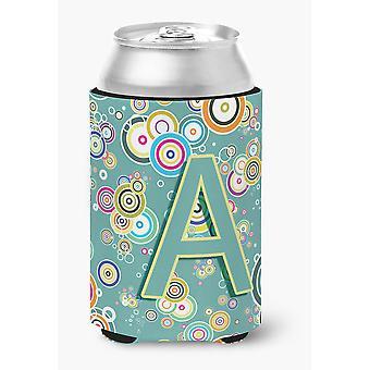 Buchstabe A Kreis Kreis Petrol / erste Alphabet Dose oder Flasche Hugger
