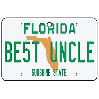 Florida - Best Uncle License Plate Car Air Freshener