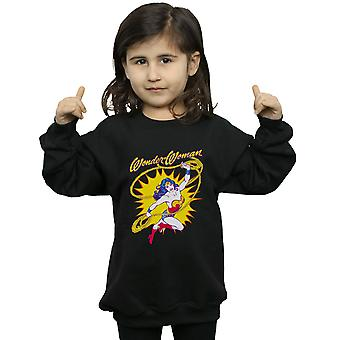 DC Comics Girls Wonder Woman Leap Sweatshirt
