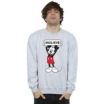 Disney Men's Mickey MouseBelieve Sweatshirt