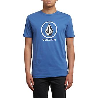 Volcom Crisp Short Sleeve T-Shirt in Blue Drift