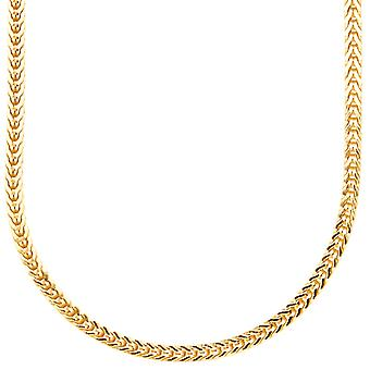 Sterling 925er Silber Bling Francokette - 3x3mm gold