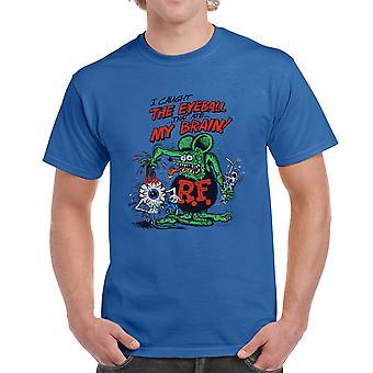 Rat Fink I Caught The Eyeball Men's Royal Blue T-shirt