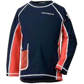 Didriksons Kids Surf Long Sleeved UV Rash Top - Navy
