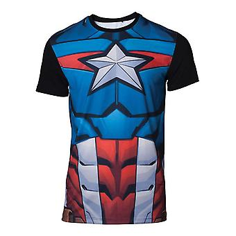Captain america Cosplay T-Shirt multicolour Small (TS070426MVL-S)