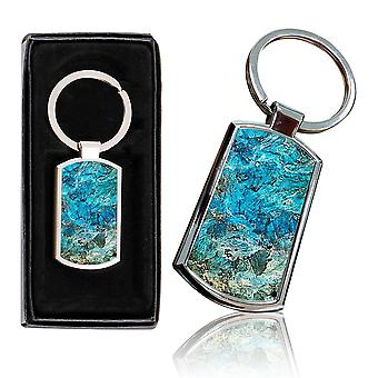 i-Tronixs - Premium Marble Design Chrome Metal Keyring with Free Gift Box (3-Pack) - 0010