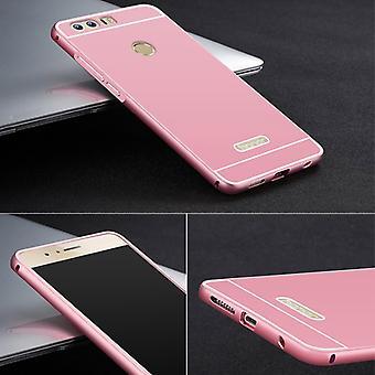 Aluminio tope 2 piezas con cubierta rosa para Huawei honran 8 bolsa de caso manga