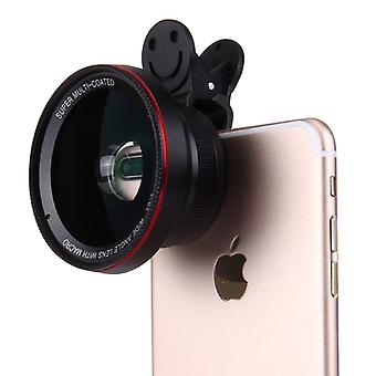 Universal wide angle lens for smartphones and tablets black