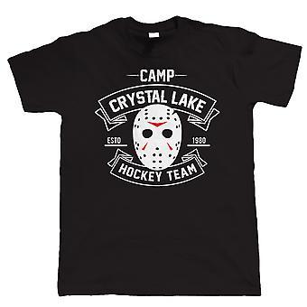 Camp Crystal Lake Hockey Team, Mens Horror Movie T Shirt - Halloween Fancy Dress