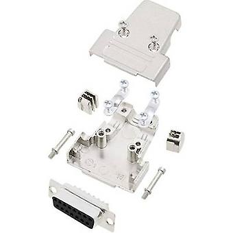 encitech TRI-M-15-DBS-K 6355-0038-12 D-SUB receptacle set 180 ° Number of pins: 15 Solder bucket 1 Set