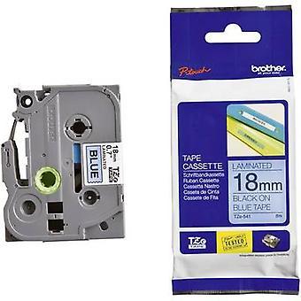 Labelling tape Brother TZe, TZ TZe-541 Tape colour: Blue Font colour:Black 18 mm 8 m