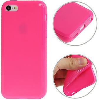 Suojaava tapauksessa TPU Puhelin Apple iPhone 5 C pink
