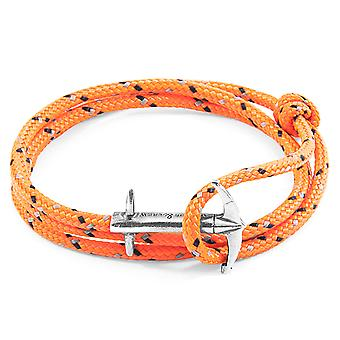 Anchor & Crew Orange Admiral Anchor Silver and Rope Bracelet (No. 1-75 Only)