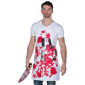 Bloody butcher apron with various knives costume Halloween Carnival