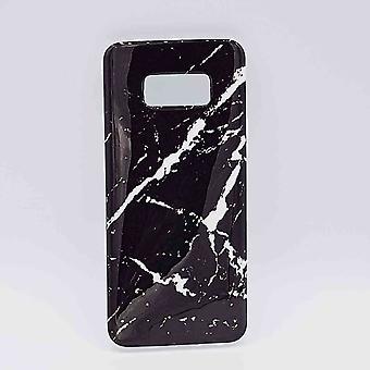 Für Samsung Galaxy S8-Tasche-Schwarz Marmor