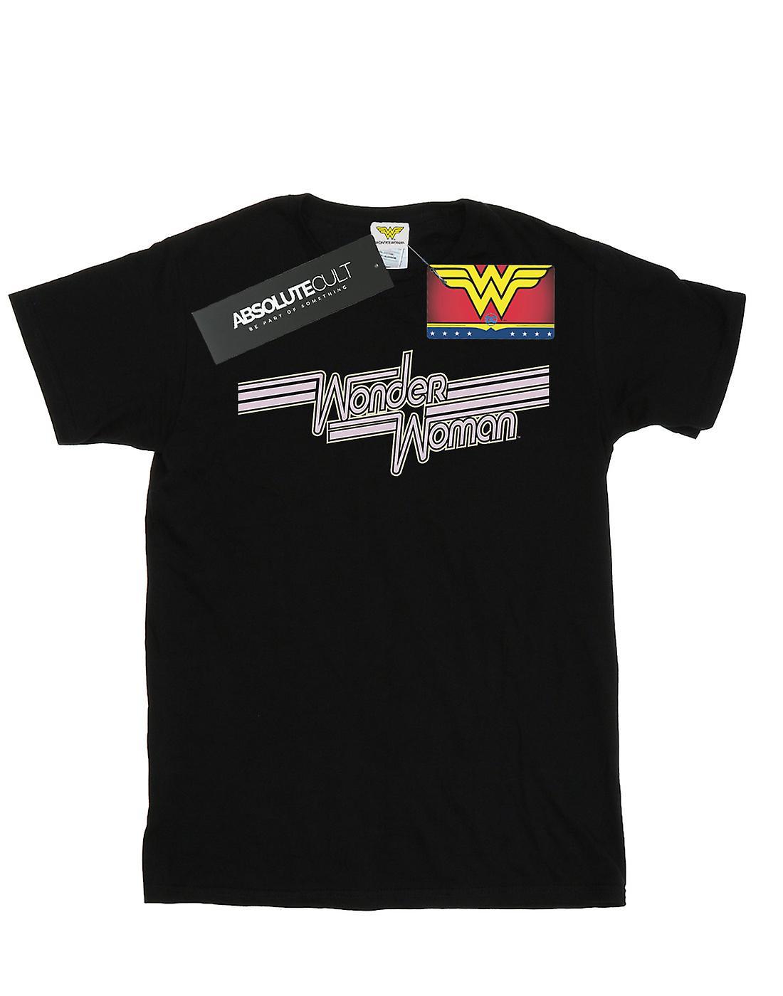 DC Comics Girls Wonder Woman Lines Logo T-Shirt