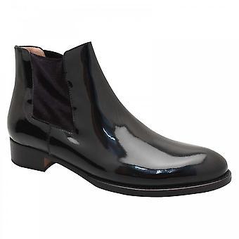 Calpierre Black Patent Chelsea Ankle Boot