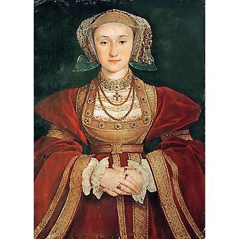 Anne de Cleves reine d ' Angleterre, Hans Holbein, 60x40cm