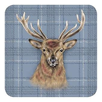 Melamine Coaster Stag by The Original Metal Sign Co