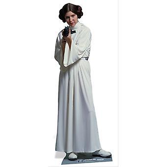 Księżniczka Leia Organa z Star Wars Lifesize tektury wyłącznik / Standee / Standup