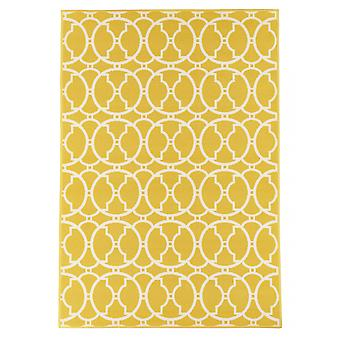 Outdoor carpet for Terrace / balcony yellow vitaminic interlaced yellow 133 / 190 cm carpet indoor / outdoor - for indoors and outdoors