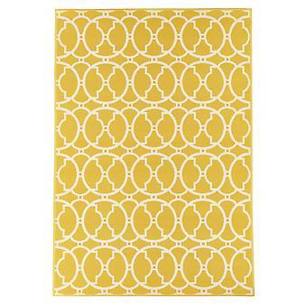 Открытый ковер для Терраса / Балкон желтый vitaminic чередующихся желтых 133 / 190см ковер крытый / открытый - в помещении и на открытом воздухе