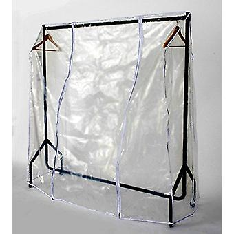 Transparent Clothes Rail Covers for Various sizes With 2 Zippers (5ft Long x 5ft High)