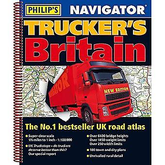 Filipa 2019 Navigator Trucker Wielkiej Brytanii (Atlas drogowy Philips)