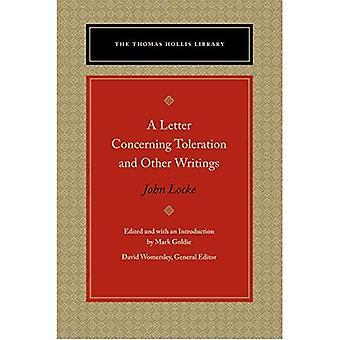 Une lettre concernant la tolérance & autres écrits (Thomas Hollis Library)