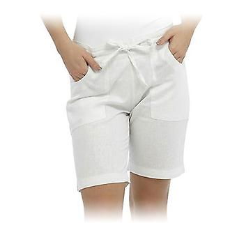 Womens Tom Franks Solid Colour Easy Care Linen Style Summer Beach Holiday Shorts