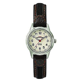 Timex wrist watch T41181, women's analogue dial, Brown leather strap,