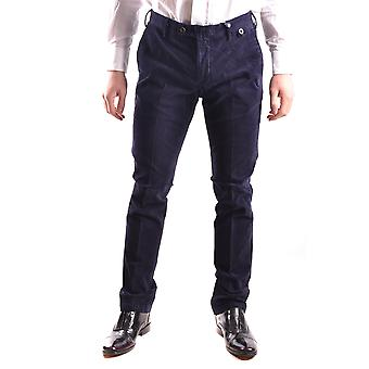 At.p.co Ezbc043033 Men's Blue Velvet Pants
