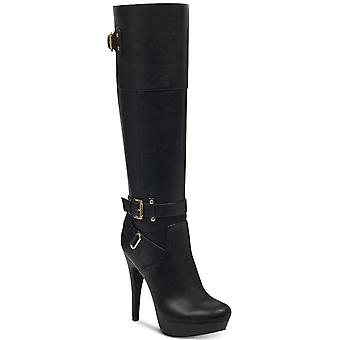 G by Guess Womens Destynn Almond Toe Knee High Fashion Boots