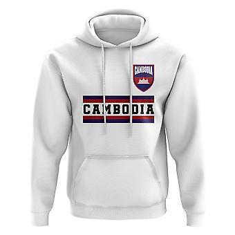 Kambodsja Core Football Country Hoody (hvit)