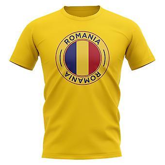 Roemenië voetbal badge T-shirt (geel)