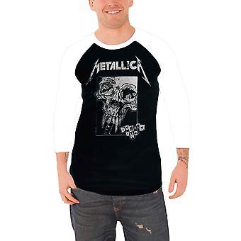 Metallica T shirt Damage Inc Distressed Band Logo Official Mens Baseball Shirt