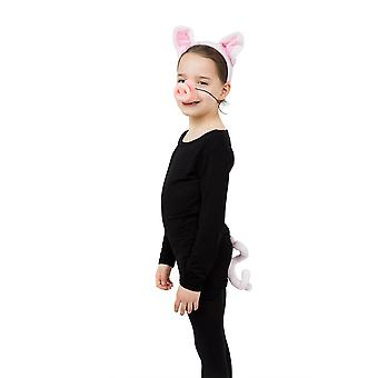 Bristol Novelty Childrens/Kids Pig Costume Accessories Set