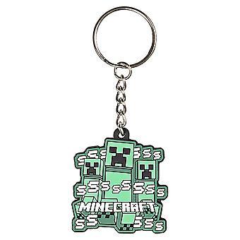 Sleutelhanger-Minecraft-Creeper Rush-rubber PVC j8323