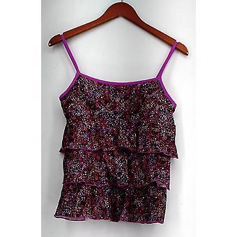 Fit 4 U Swimsuit Scoop Neck Ruffle Skortini w/ Contrast Detail Pink A230897