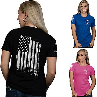 Nine Line Apparel Women's America Relaxed Fit Short Sleeve T-Shirt