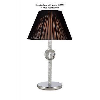 Diyas Elena tafel lamp zonder schaduw 1 licht gepolijst chroom/kristal