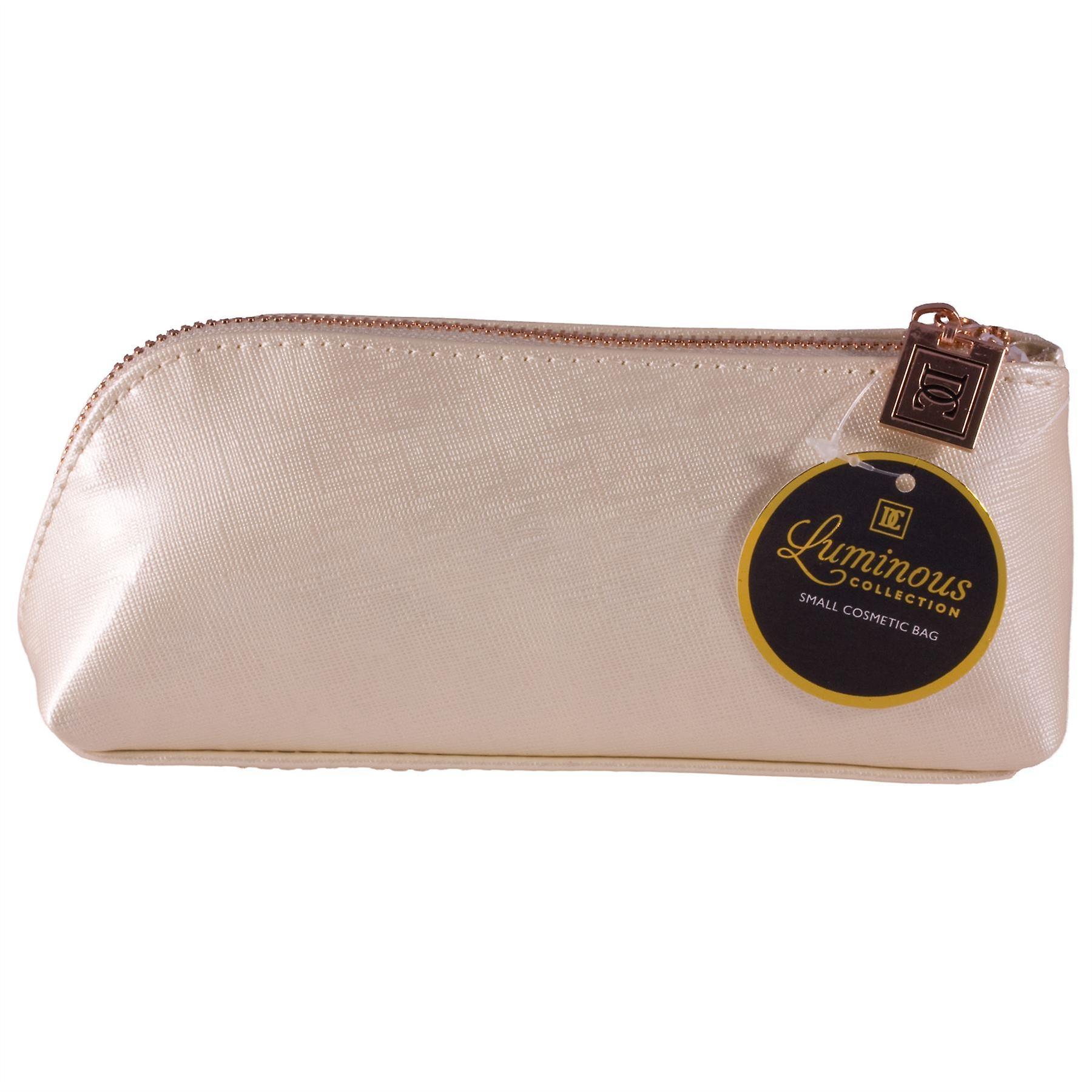 Danielle Creations Luminous Collection Small Pencil Case Makeup Bag - Cream