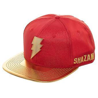 Shazam película Logo amarillo Brim sombrero