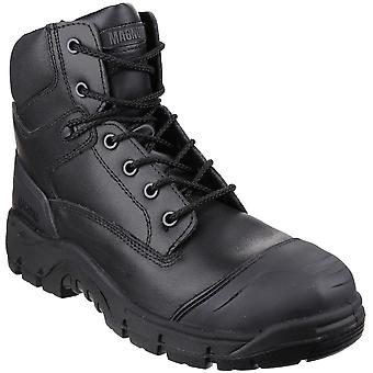 Magnum Mens Roadmaster Durable Leather Lace Up Safety Boots